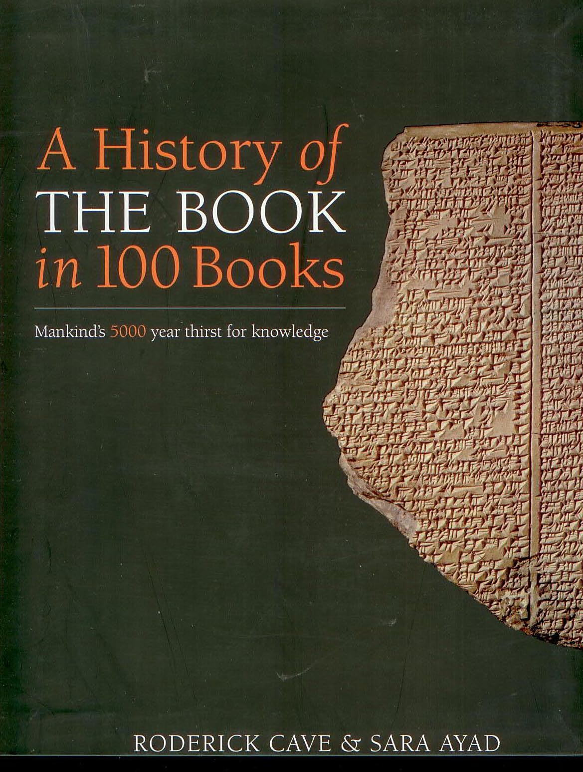 Image for A history of The Book in 100 Books